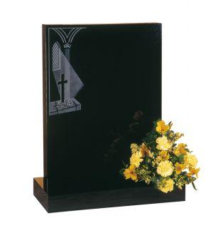Dense Black Granite - Window Ornament