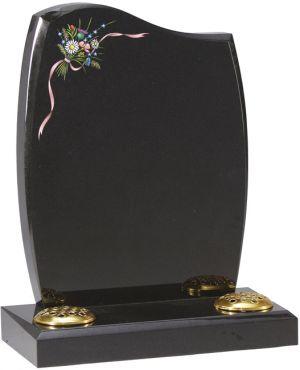 Dense Black Granite - Wild flower bouquet