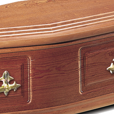 close up of a coffin